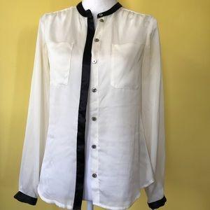 Size 6 medium white button up